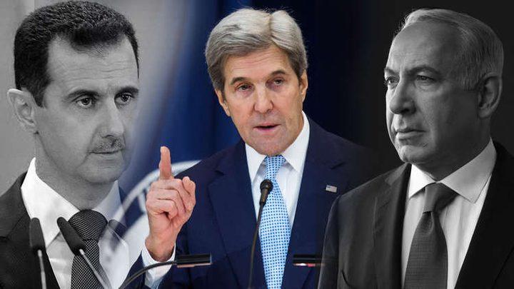 هآرتس:كيري يكشف تفاصيل رسالة الأسد السرية لنتنياهو