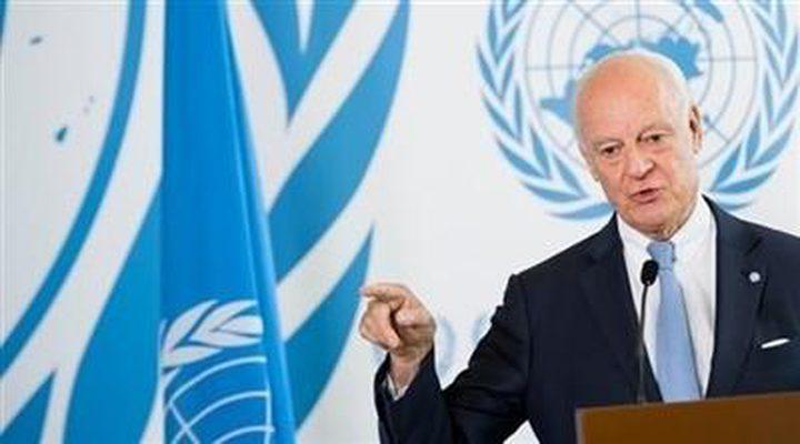 دي ميستورا يطالب بممرات لإجلاء المدنيين في إدلب