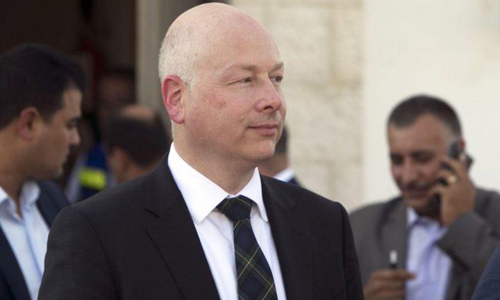 غرينبلات: لن تتحقق التسوية إذا لم يحل الوضع في غزة