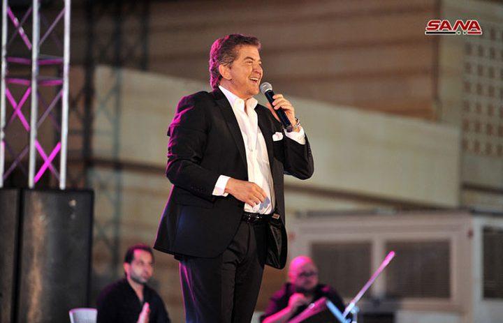 وليد توفيق يفتتحالمهرجان الفني لمعرض دمشق الدولي