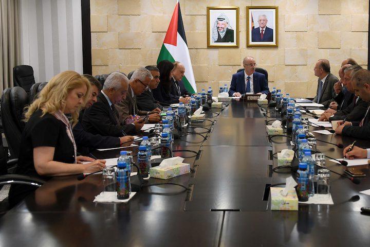 رئيس الوزراء د. رامي الحمد الله يترأس الفريق الوطني للتنمية الاقتصادية، في رام الله