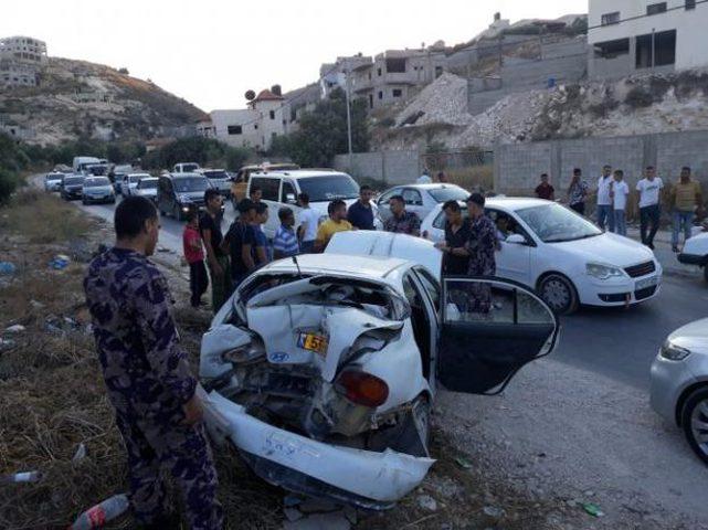 سبع إصابات بحادث سير شمال رام الله
