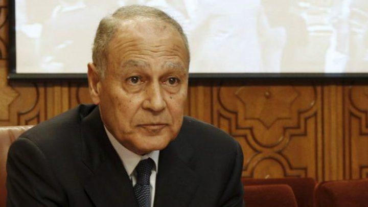 اطلاع أبو الغيط على خطورة قانون القومية الإسرائيلي