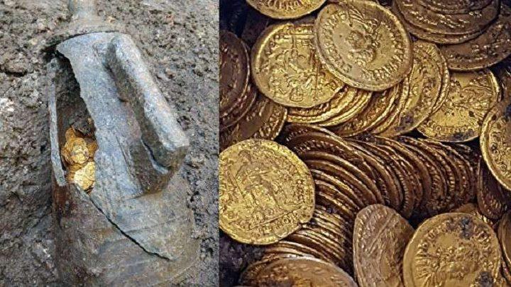 العثور على كنز من الذهب في إيطاليا
