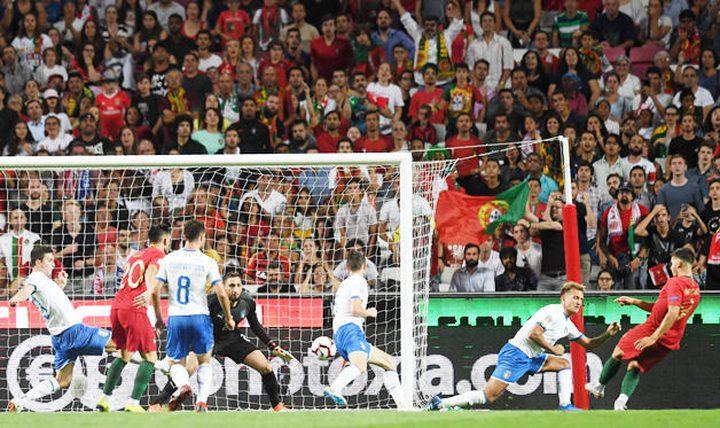 دوري الأمم الأوروبية:البرتغال تعمق جراح إيطاليا