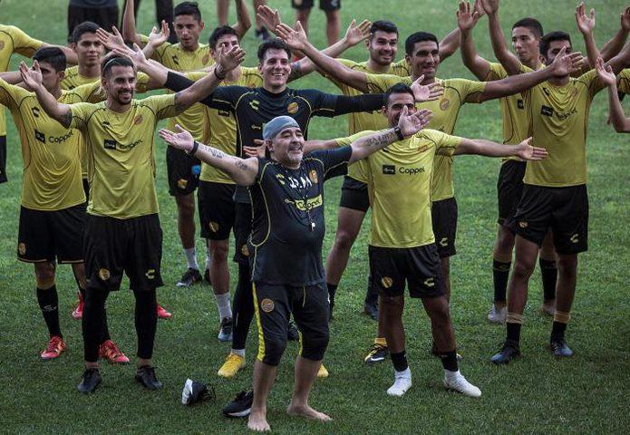 """مارادونا يتعهد ببذل قصارى جهده في تدريب """"دورادوس"""""""
