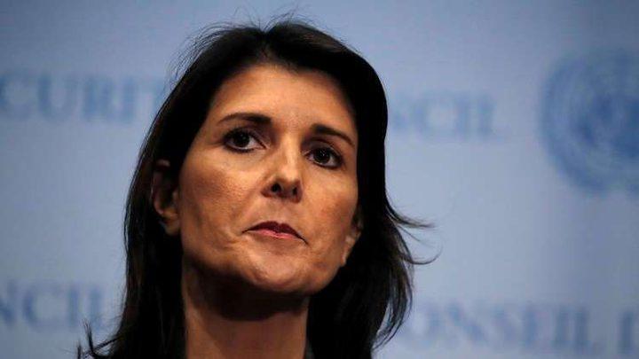 هايلي: لا تختبروا جدية ترامب باستخدام القوة بسوريا