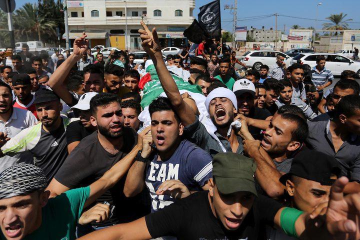 """تشييع جثامين شهداء """"جمعة المقاومة خيارنا"""""""