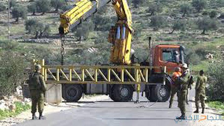 الاحتلال يغلق جميع مداخل قرية نحالين غرب بيت لحم