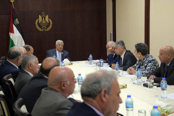 الرئيس يترأس اجتماعا للقيادة الفلسطينية
