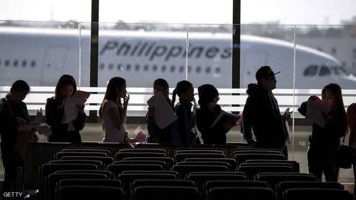 ثعابين بين المسافرين في مطار في الفلبين