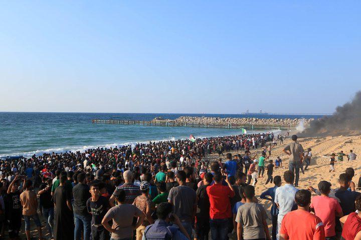 سفن مسير الحرية الثامن لكسر الحصار الاسرائيلي عن قطاع غزة.