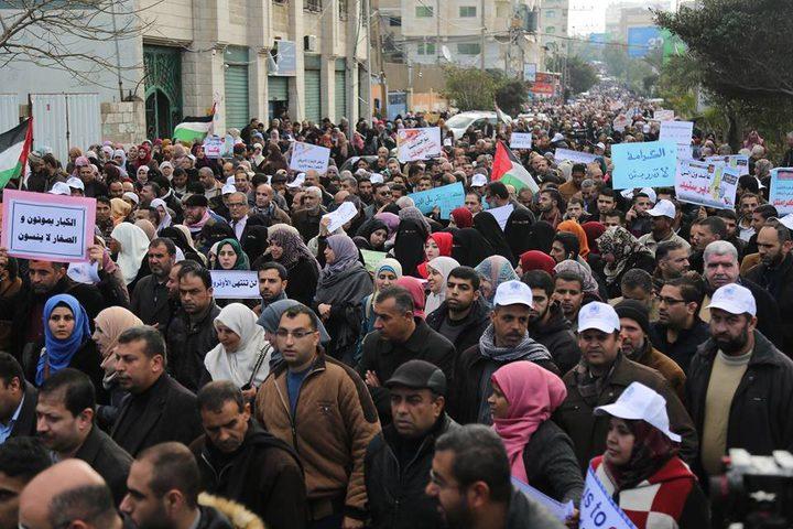 """13 ألف موظف يستعدون للتظاهرة ضد قرار """"الأونروا"""""""