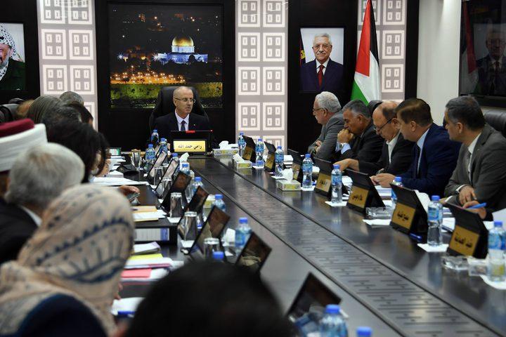 اجتماع مجلس الوزراء الفلسطيني، برئاسة الدكتور رامي الحمد الله، في رام الله.