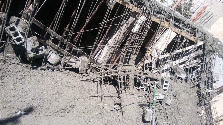 إصابة شاب إثر انهيار سقف مبنى قيد الإنشاء في نابلس