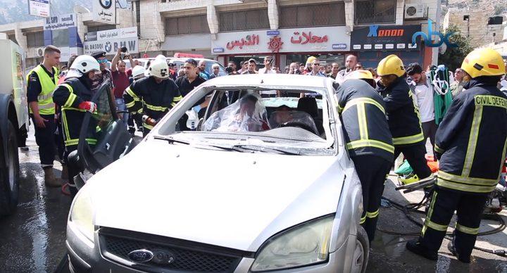 مناورة لمحاكاة مخاطر الزلازل في نابلس (فيديو)