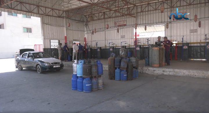 تكدّس الغاز في قطاع غزة بسبب ضعف القدرة الشرائية