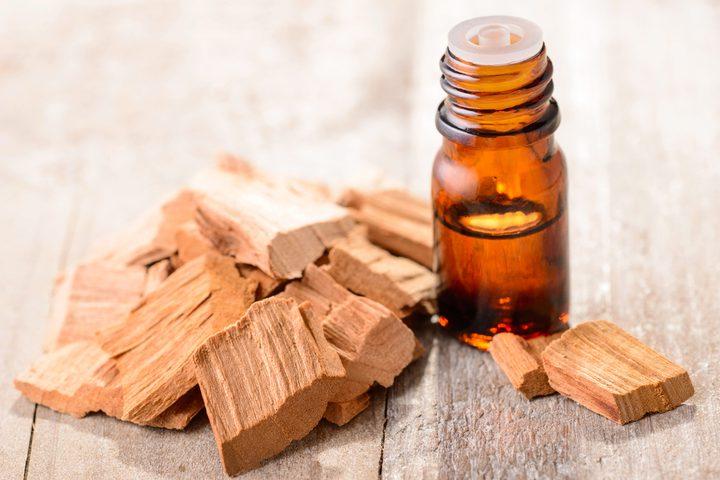فرك فروة الرأس بزيت خشب الصندل علاج للصلع