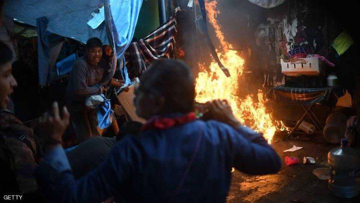"""المكسيك.. عشرات الجرحى في """"مواجهات المخيم"""""""
