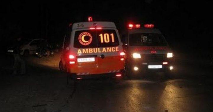 4 اصابات في حادث سير جنوب نابلس