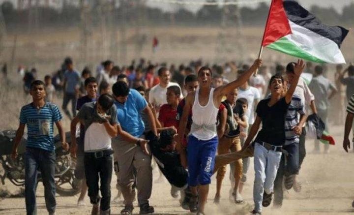 6 إصابات برصاص الاحتلال شرق دير البلح