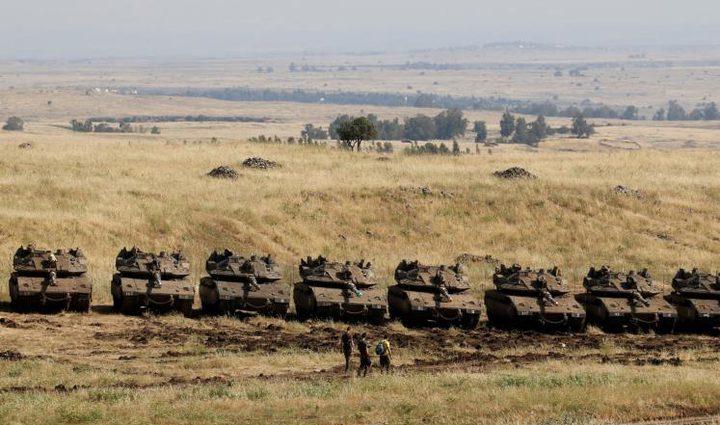 قوات الاحتلال تدفع بتعزيزات عسكرية على حدود غزة
