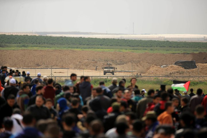 انطلاق مسيرة كسر الحصار على حدود غزة