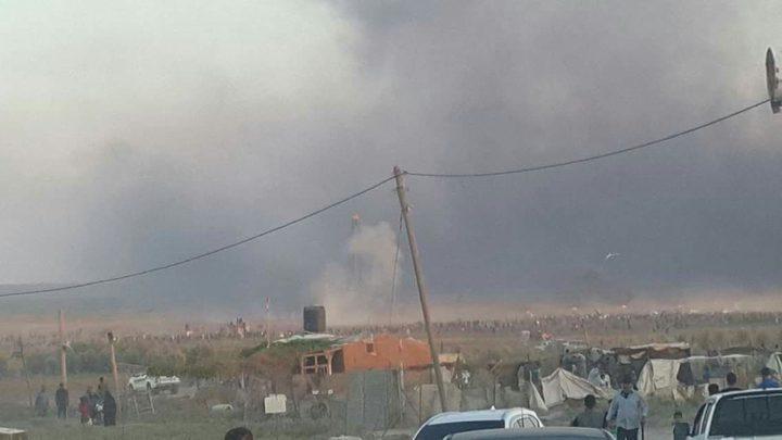 الاحتلال يستهدف نقطة رصد للمقاومة شرق غزة