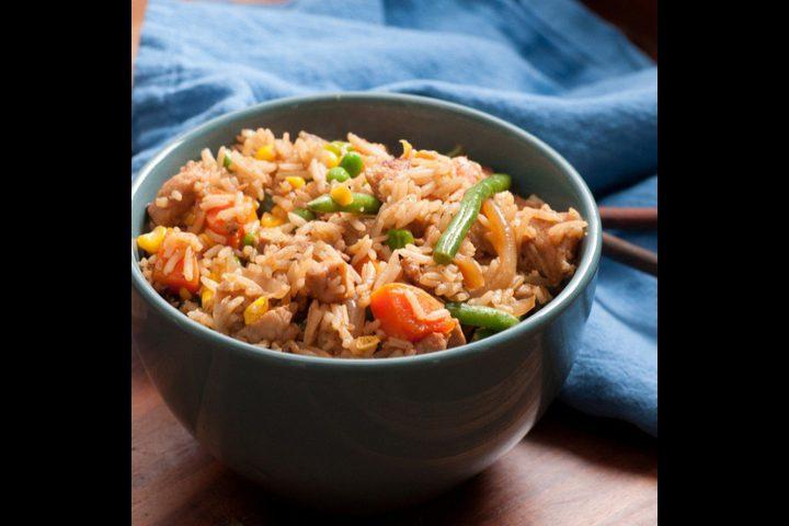 أرز صيني بالدجاج