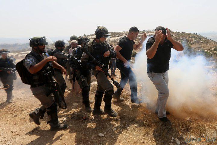 إصابات خلال قمع الاحتلال مسيرة رأس كركر