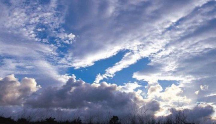 حالة الطقس: الجو غائم جزئيا إلى صاف حتى الإثنين