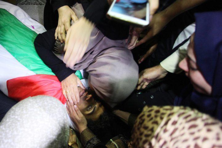 خلال تشييع جثمان الشهيد كريم كلاب من مدينة غزة، والذي استشهد أمس في مسيرات العودة وكسر الحصار