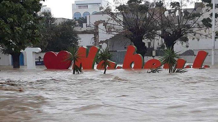 مصرع ثلاثة في فيضانات اجتاحت شرقي تونس