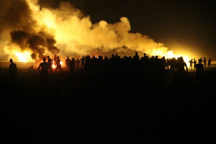 مئات الشبان يقارعون الإحتلال في مخيمات العودة