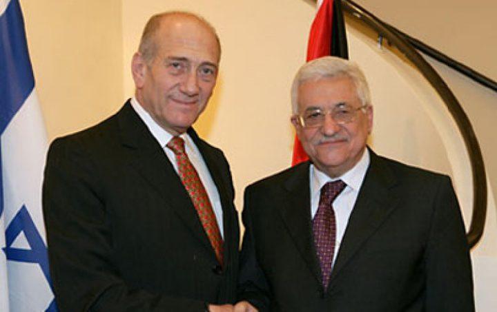"""ماذا علق""""الليكود"""" على اجتماع اولمرت بالرئيس عباس؟"""