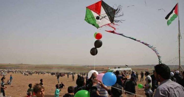 الاحتلال: سقوط بالونات حارقةبمستوطنات غلاف غزة