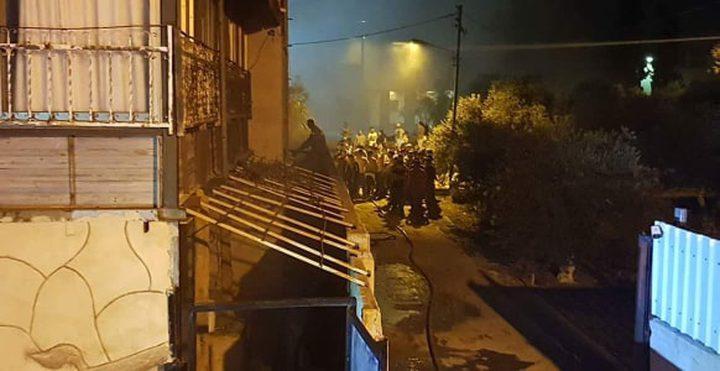 إصابتان بالإختناق جراء اندلاع حريق كبير في نابلس