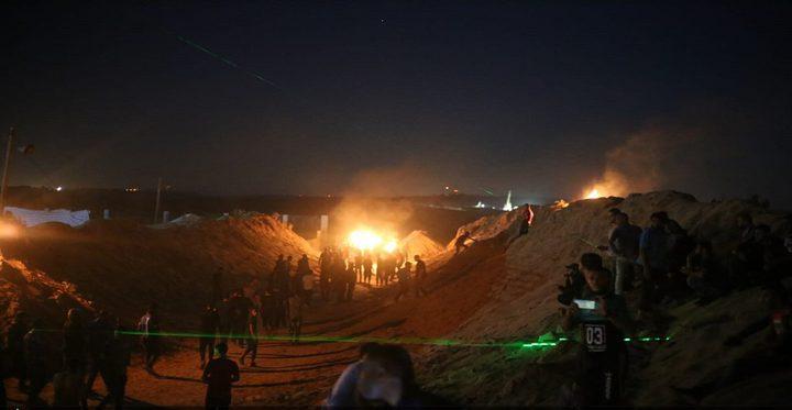 """اصابات في فعاليات """"الإرباك الليلي"""" شرق غزة"""