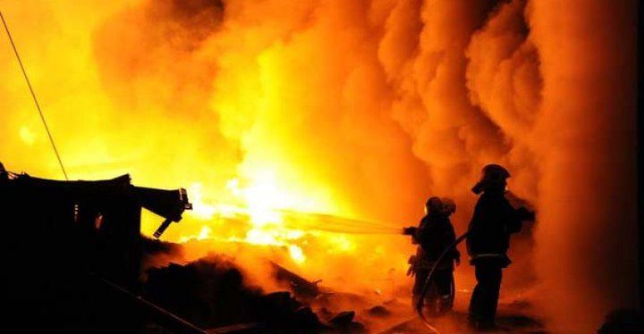 سبع حرائق بمستوطنات غلاف غزة بفعل بالونات حارقة