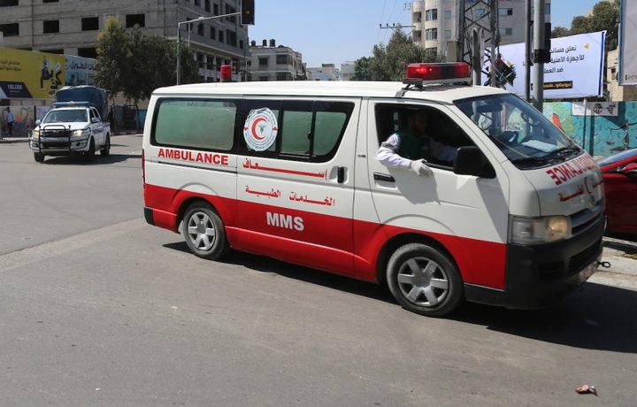 اصابة 3 مواطنين بحادث سير ذاتي في جنين