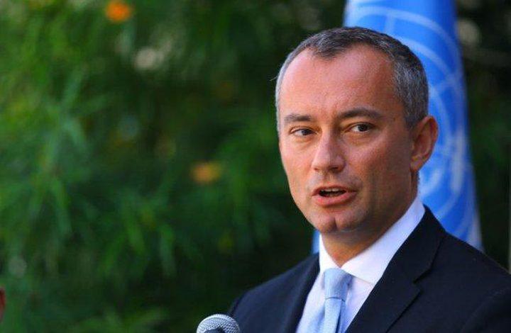 ميلادينوف يحذر من نشوب حرب جديدة في غزة