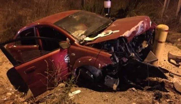 إصابة 3 مواطنين بحادث سير ذاتي جنوب جنين