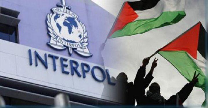 انتربول فلسطين يتسلم مطلوب صادر بحقه مذكرة قضائية