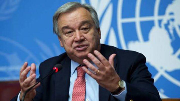 غوتيريش يؤكد التزامه بحل الدولتين