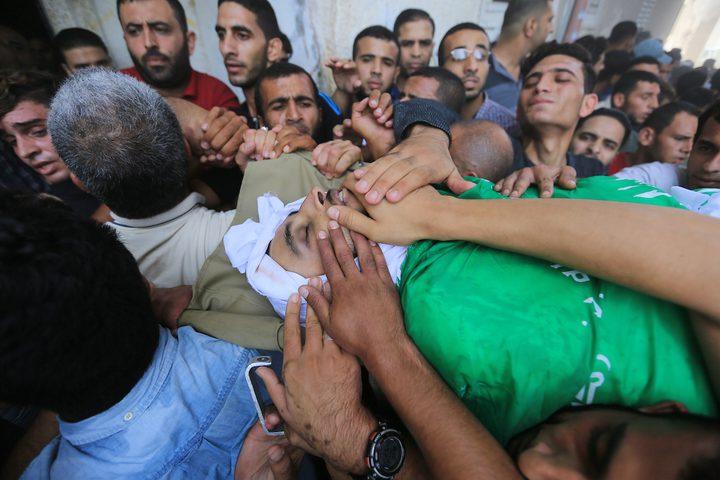 غزة تشيع سبعة شهداء ارتقوا بالأمس في الجمعة ال27 لمسيرات العودة (جمعة انتفاضة الاقصى).