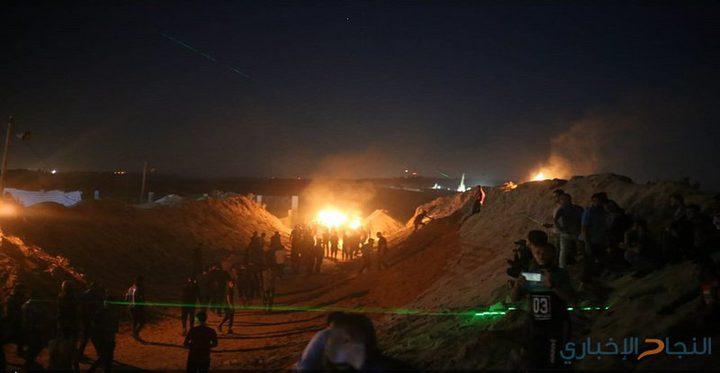 وحدة الارباك الليلي تُباشر فعالياتها شرق قطاع غزة