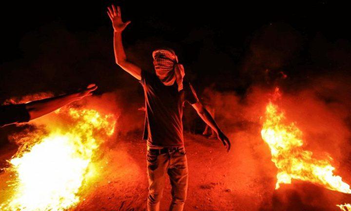 """5 اصابات في فعاليات """"الإرباك الليلي"""" شرق غزة"""