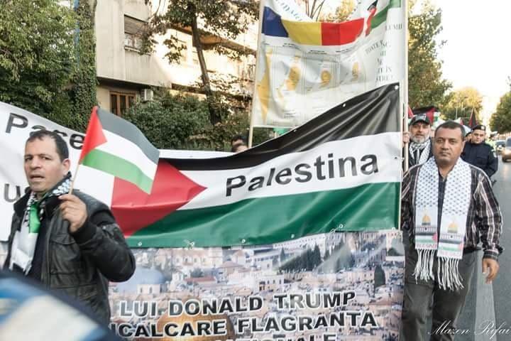 مسيرة حاشدة ببوخارست لمنع نقل سفارة بلادهم للقدس