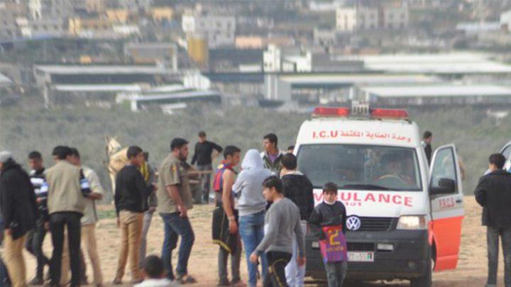 اصابتان برصاص الاحتلال وسط القطاع
