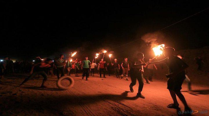 """اصابة في فعاليات """"الإرباك الليلي"""" شرق غزة"""